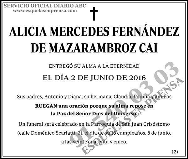 Alicia Merdeces Fernández de Mazarambroz Cai